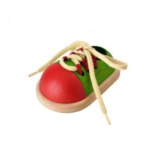 Pantof cu siret din lemn ecologic PlanToys