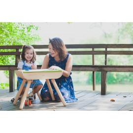 Set Masa si Scaun din lemn ecologic PlanToys - Verde